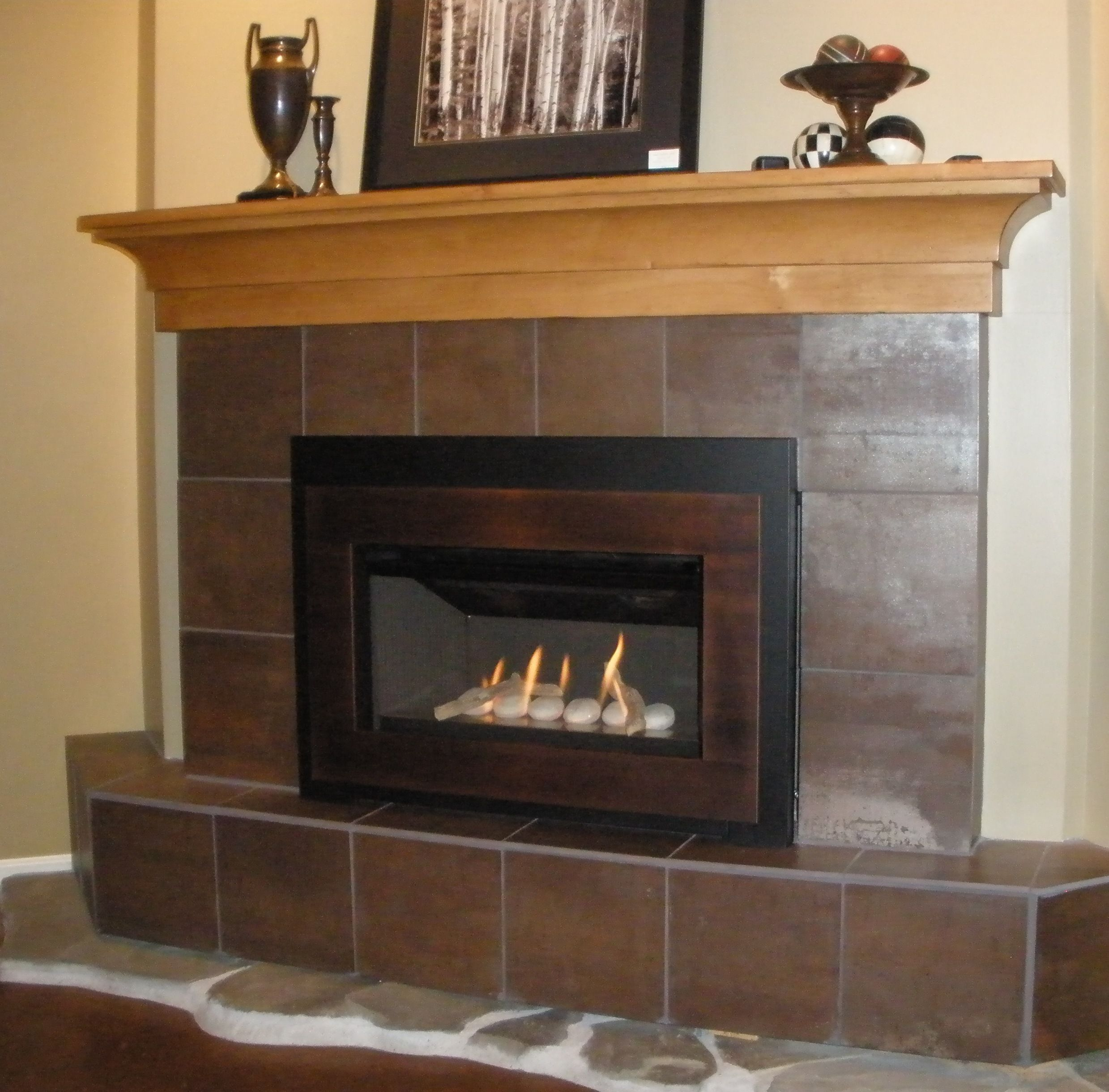 valor g3 739irn gas fireplace insert with creekside rock bed fire