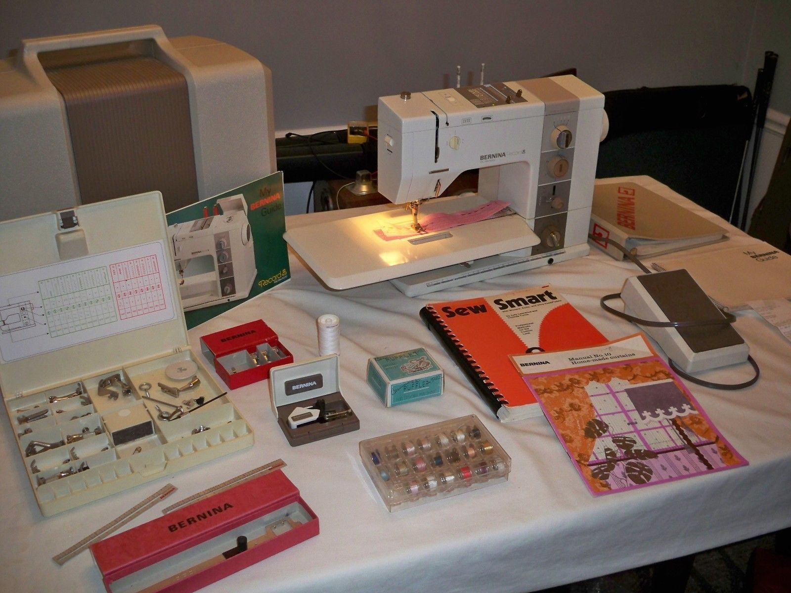 Bernina 930 Record Sewing Machine From Orig Owner Just Serviced Works Great | eBay