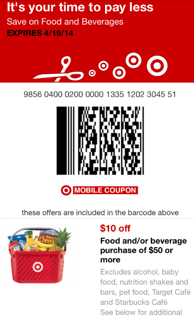 Target Coupon: $10 Off $50 Grocery Purchase Coupon Available