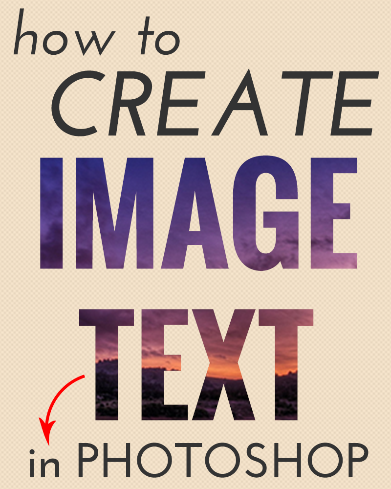How to create image text in photoshop ps pinterest create how to create image text in photoshop pinning this because when i did this in indesign the image worked on the indesign file but not on pdf or in print baditri Choice Image