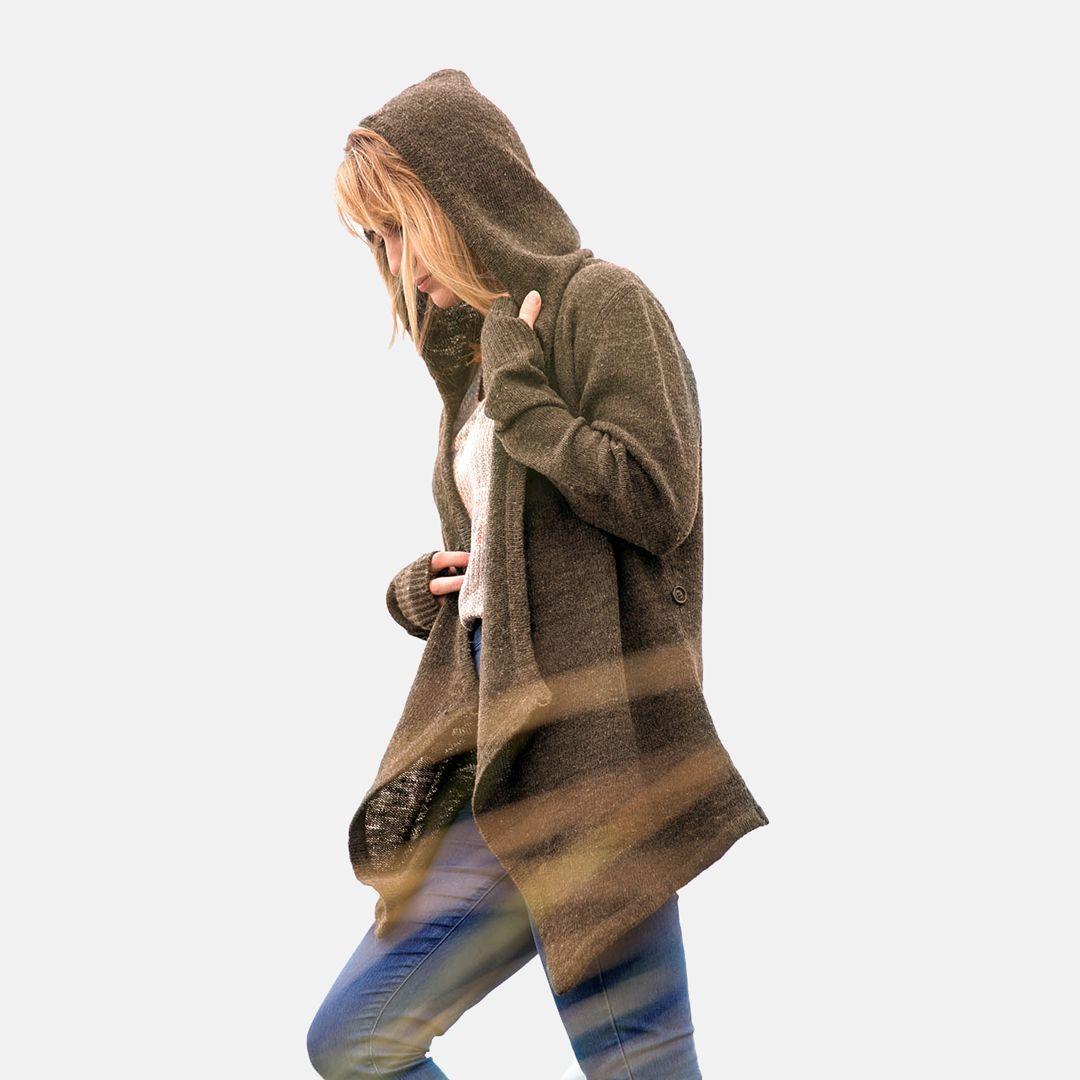 Black Sheep Wrap Sweater in 2020 | Wool sweaters womens