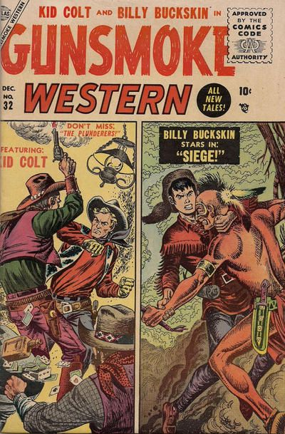 Gunsmoke Western 32 Dec 1955 The First Issue Of This Series Comics Western Comics Vintage Comic Books
