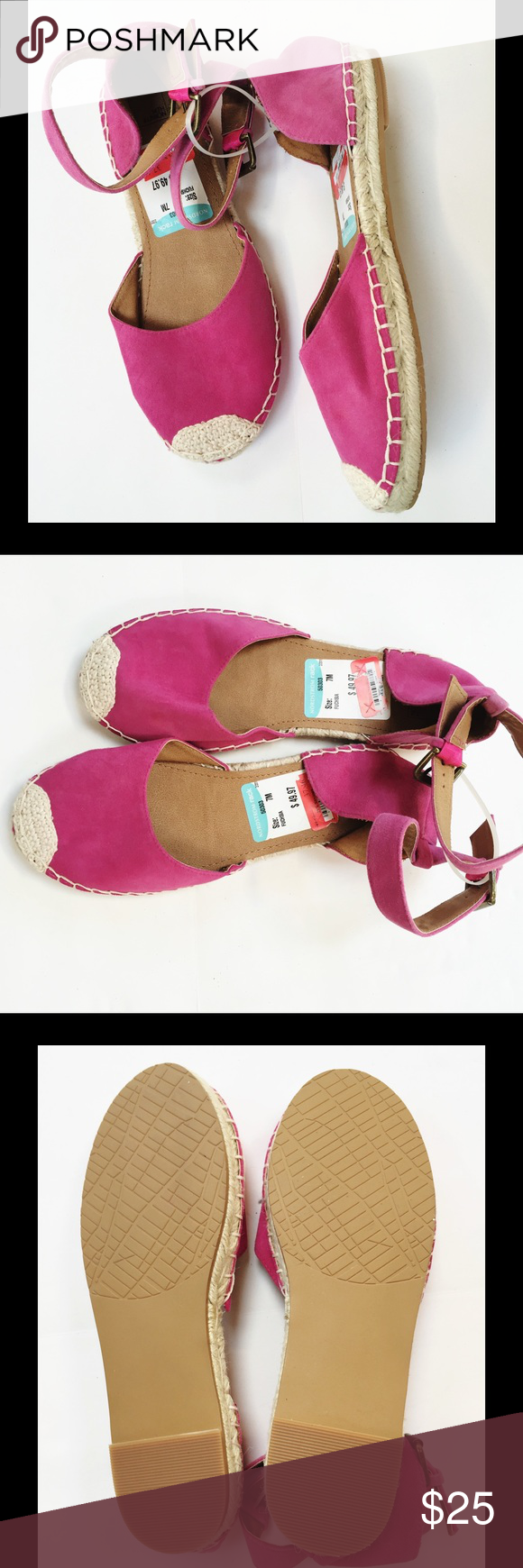NWT Fuchsia Espadrille Flats Brand new from Nordstrom Rack. Super comfortable. Soft suede-like material. *All items from a smoke- and pet-free home. Bundle for additional savings! Nordstrom Shoes Flats & Loafers