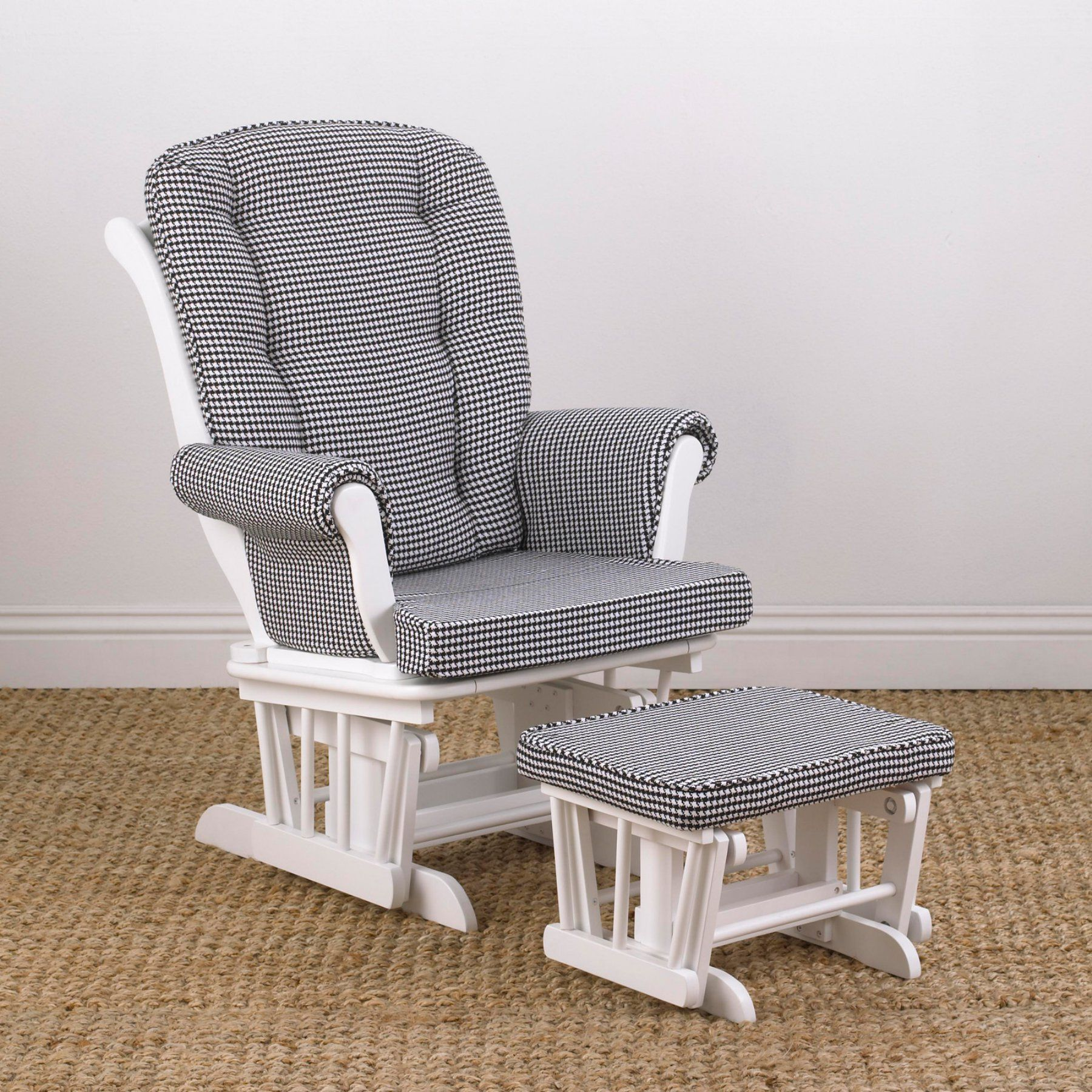Cotton Tale Designs Girly Houndstooth Glider with Ottoman