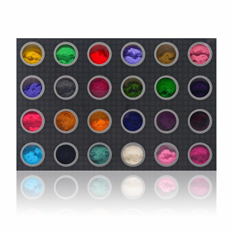 SHANY DIY Velvet Flocking powder 3D Nail Decoration - Set of 24 ...