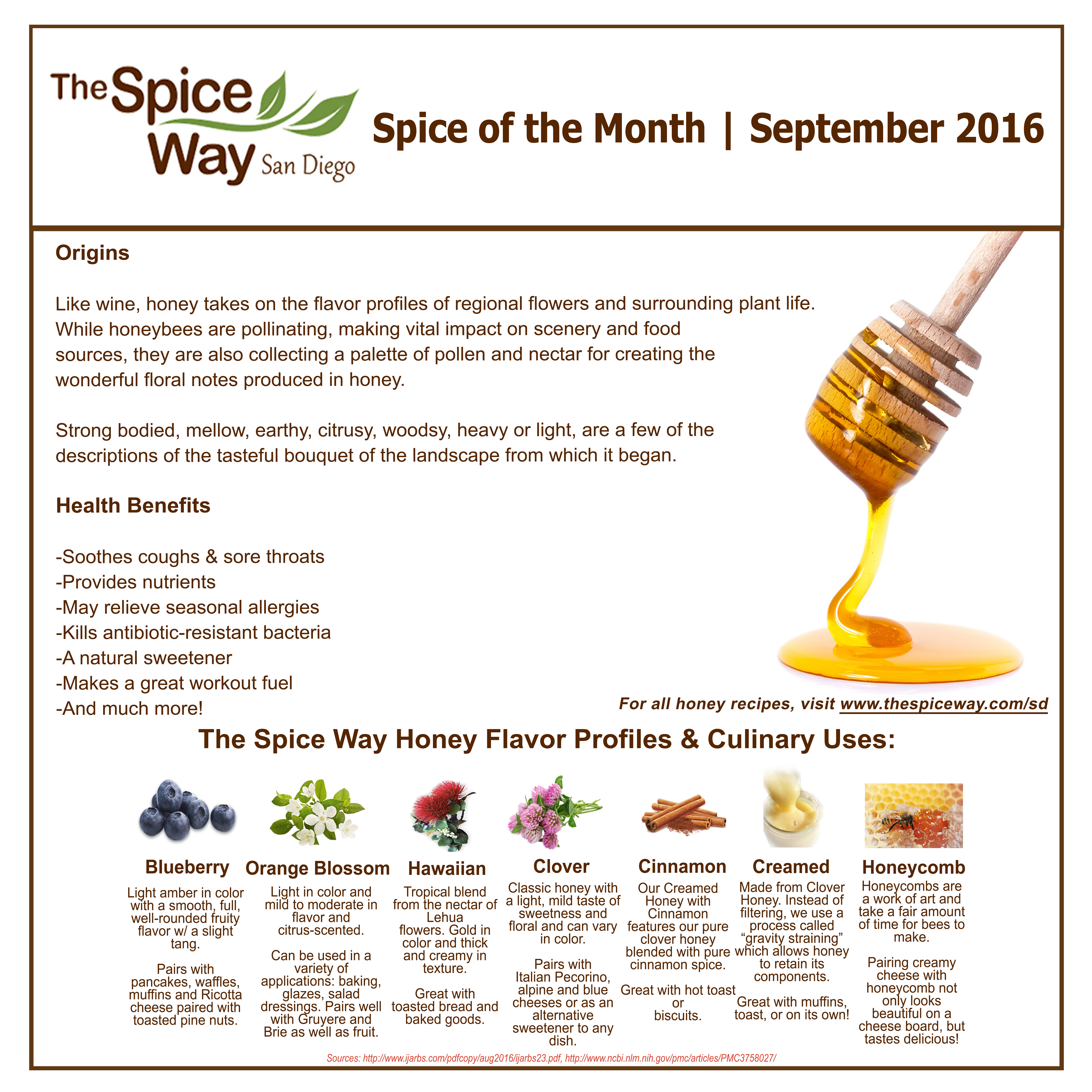 Spice of the Month - Honey