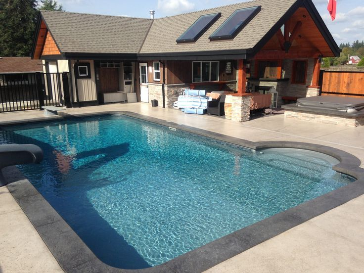 Grey Fibreglass Pool Steps Google Search Pool Pinterest Pool Steps Fiberglass Pools And