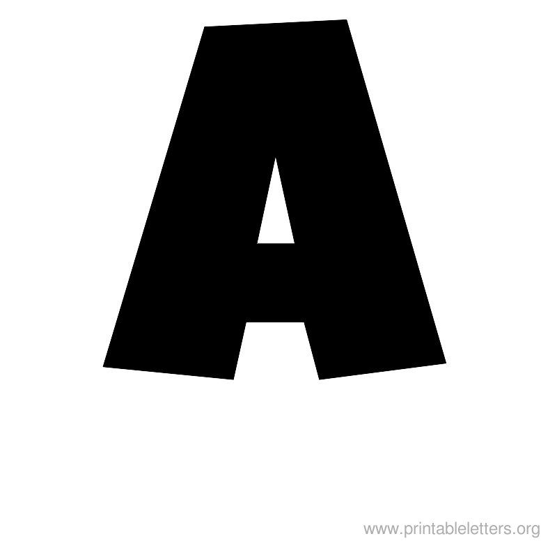 Printable letter large a alphabet pinterest for Large initial letters