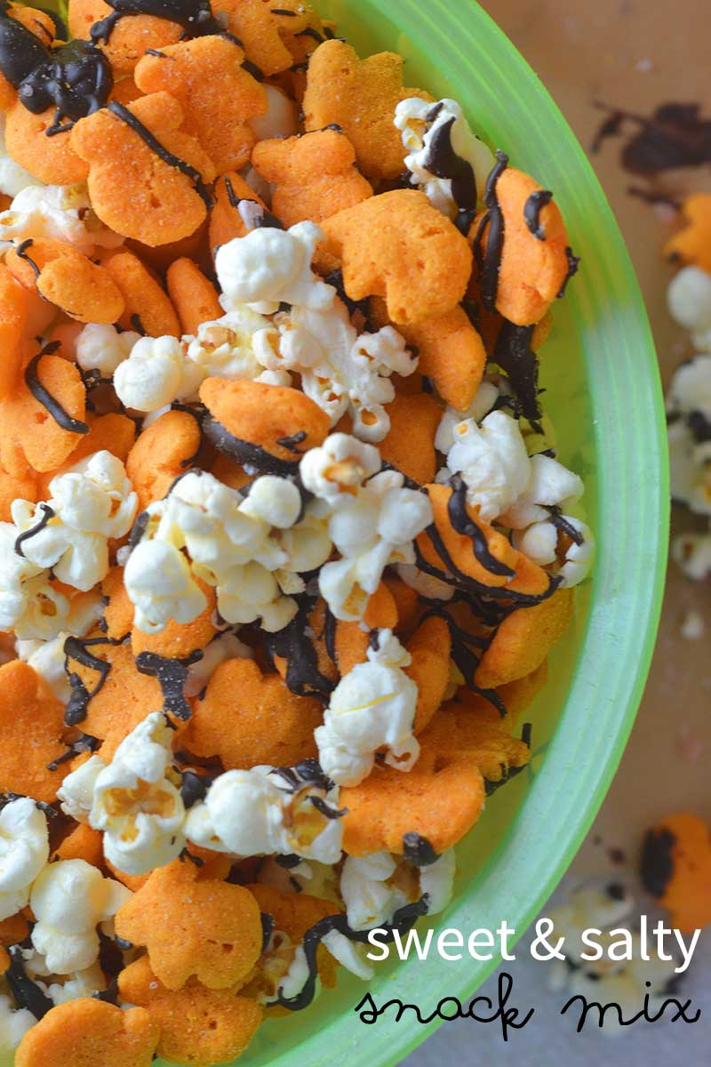 Sweet and salty snack mix featuring bacon cheddar Goldfish