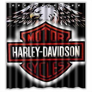 Harley Bathroom About Custom Harley Davidson Logo Waterproof