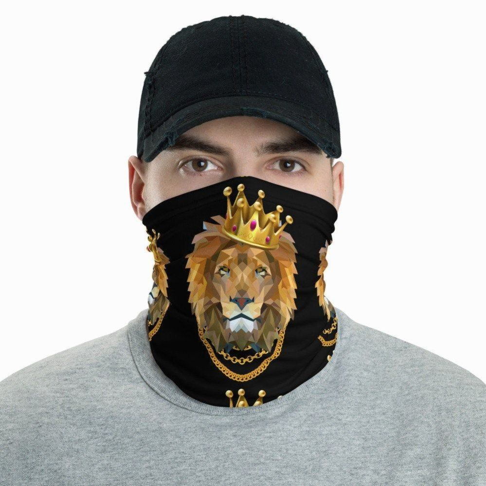 Lion Couronne Cou Guetre Ngsta Royal Animal Bandana Masque Isex Visage Couvert Lti Fonctionnelle Cagoule Masque Ce Cou Guetre Est Un Accessoire In 2020 Taschen