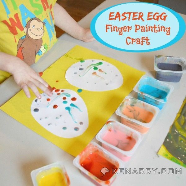 Easter Egg Finger Painting Craft For Toddlers And Kids