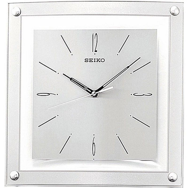 Contemporary 1225inch square quiet analog wall clock