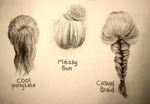 how to draw hair in a bun - Google Search