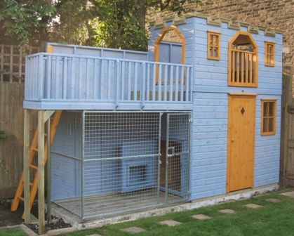Children S Playhouse With Dog Run Project Code Pc050940 Play