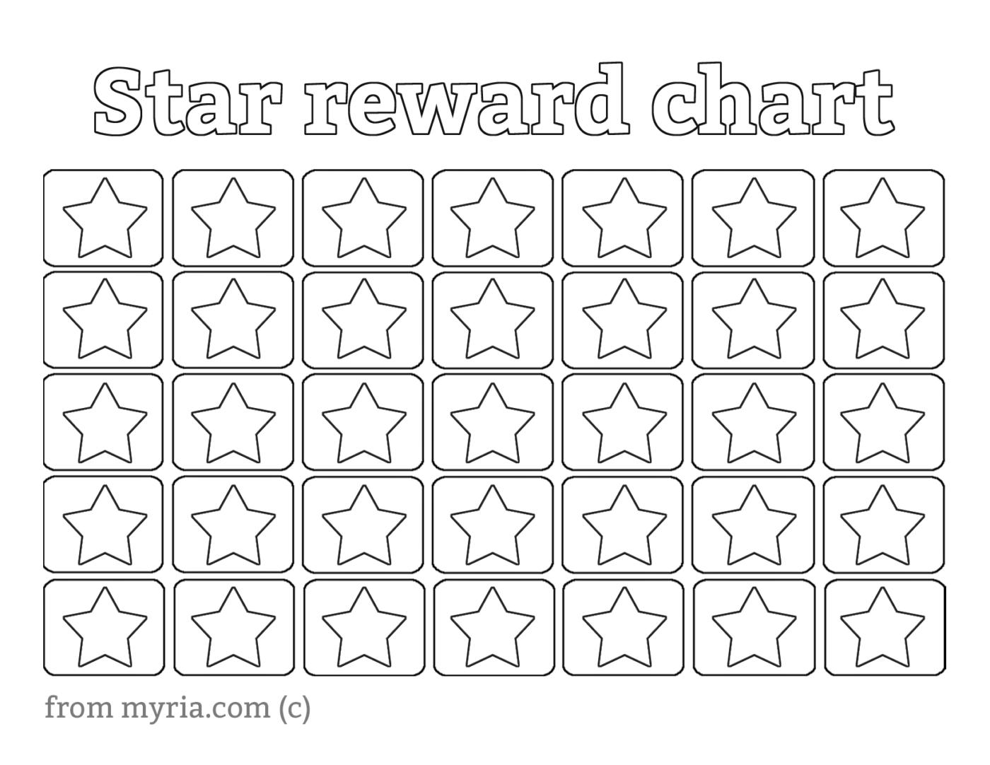 8 Free Printable Reward Charts Fill In The Stars Printables Freeprintables Rewardcharts Reward In 2020 Printable Reward Charts Star Chart For Kids Sticker Chart