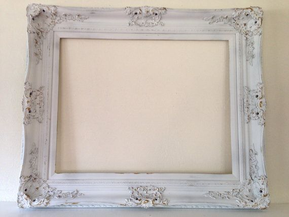 extra large shabby chic open frame vintage wedding white and gold by mysugarblossom on etsy - White Vintage Picture Frames