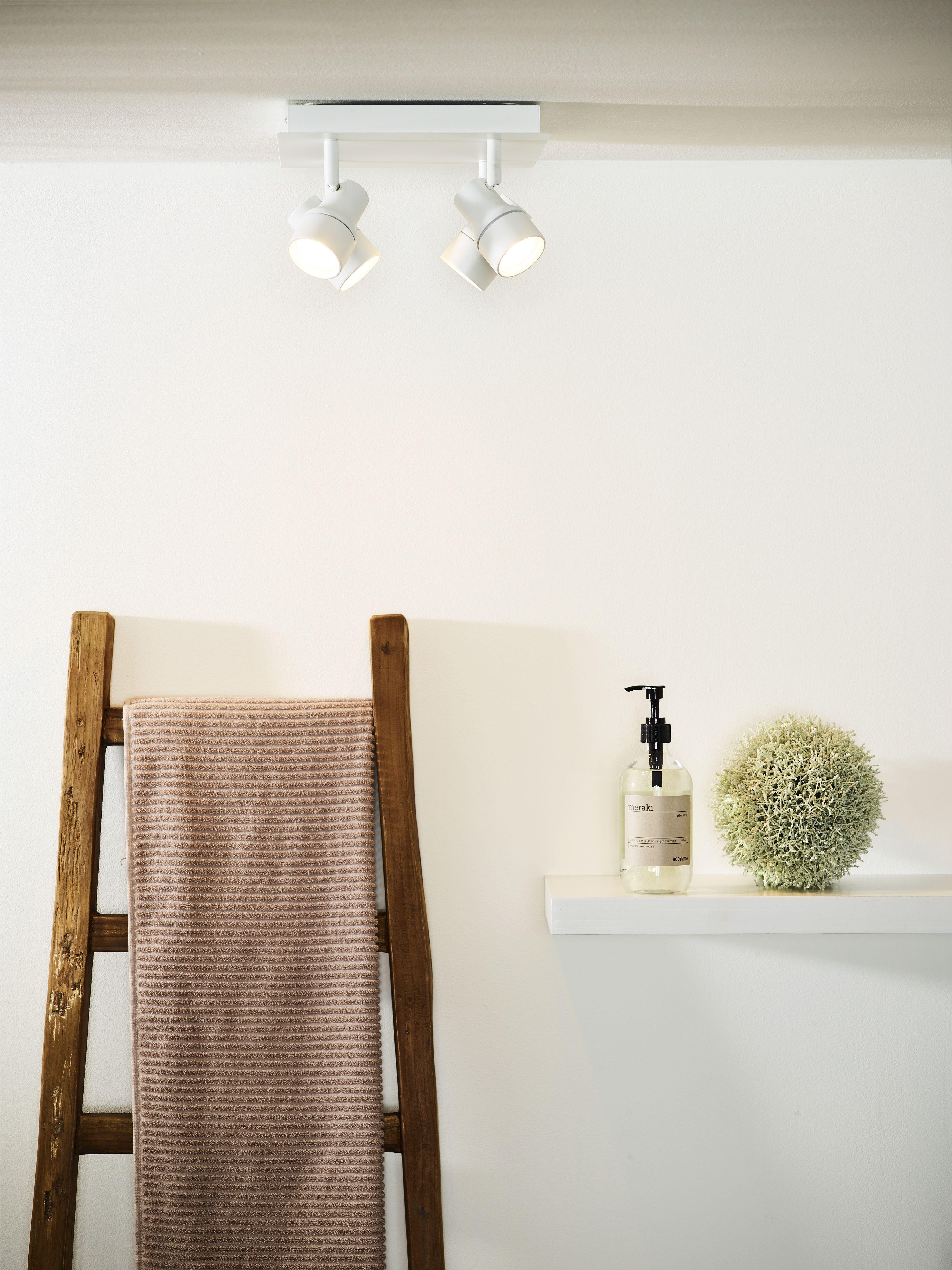 Lucide Sirene Led Ceiling Spotlight Bathroom O 10 Cm Led Dim Gu10 4x5w 3000k Ip44 White Ceiling Spotlights Led Ceiling Home Decor