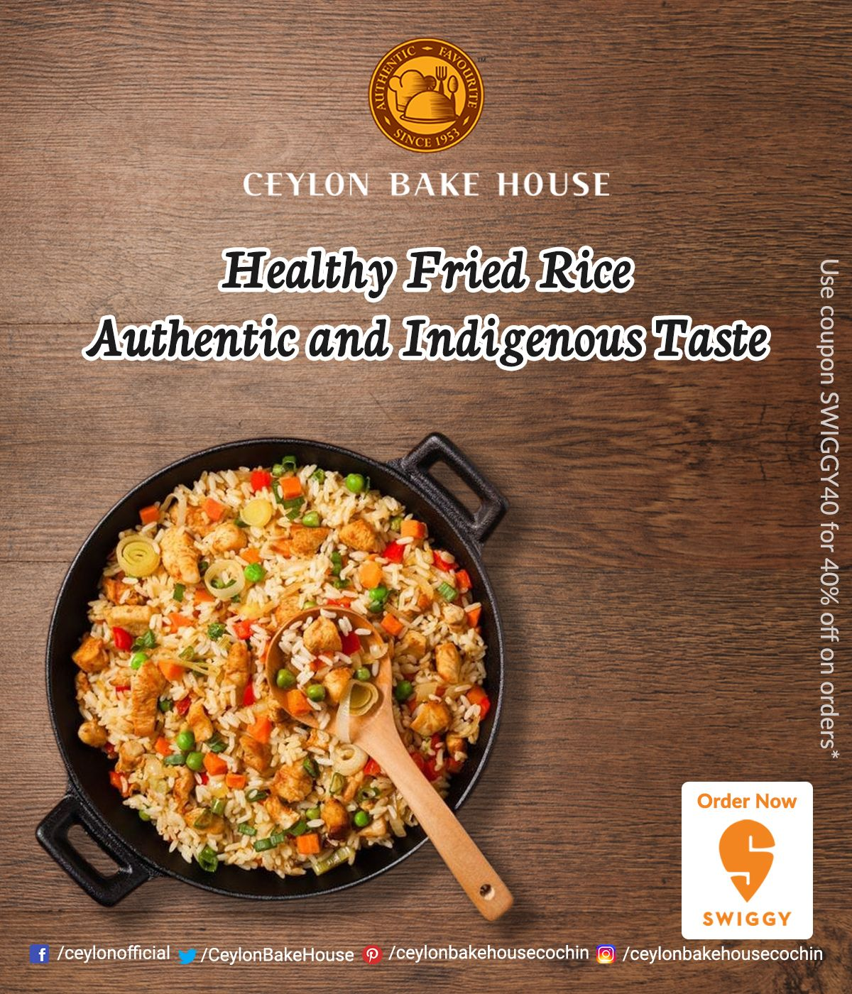 Delicious and healthy twist on a typical fried rice recipe Experience a delicious and healthy twist on a typical fried rice recipe.