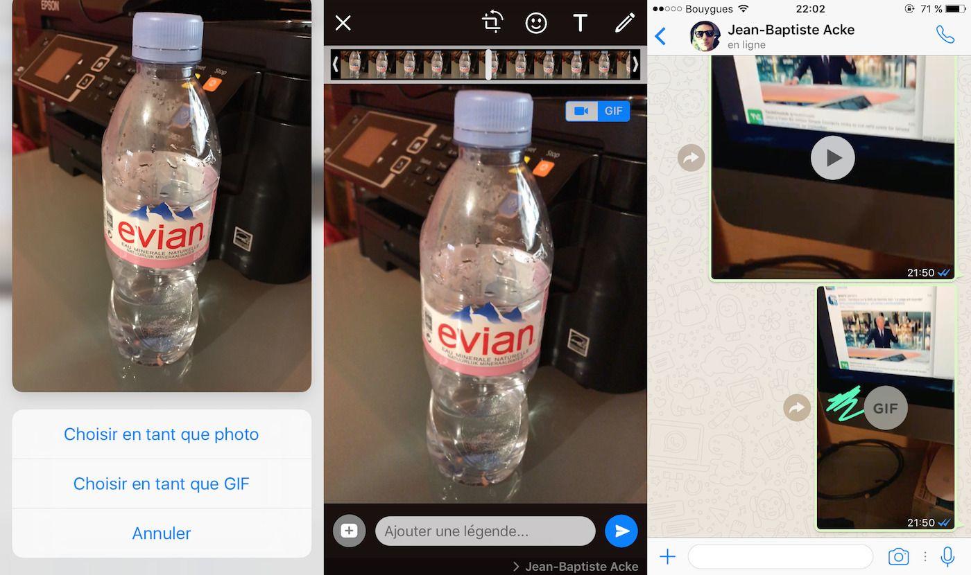 WhatsApp supporte enfin les GIF et propose den créer facilement