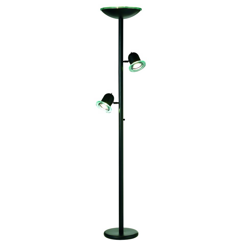 Black Gloss 3 In 1 Contemporary Torchiere Floor Lamp Style 76747 Torchiere Floor Lamp Floor Lamp Styles Floor Lamp