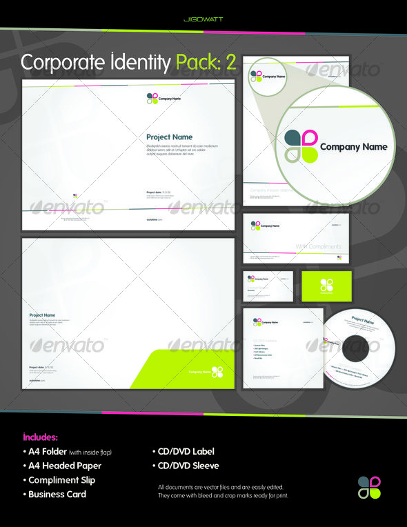Corporate Id Pack   Font Free Corporate Identity And Template