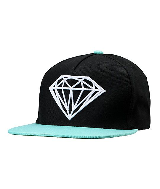 best cheap 577f9 e14ff The Diamond Brilliant snapback hat in black and Diamond blue is a must have  hat for anyone living that diamond life. With this hat you re sportin  the  world ...
