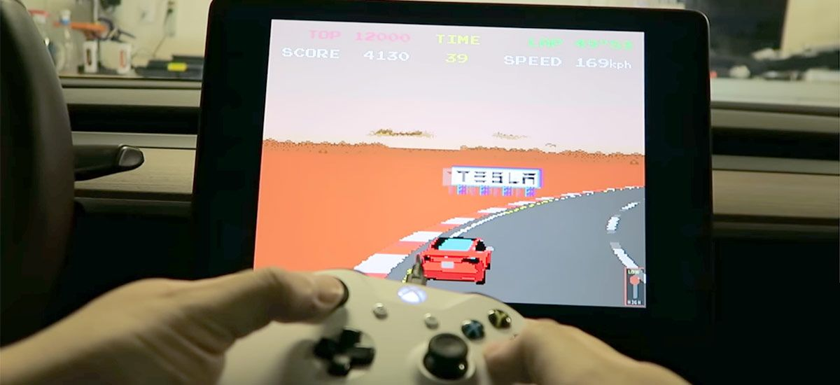 Tesla Atari Games Can Now Be Played With A Ps4 Xbox One And Pc Usb Controller Atari Games Tesla Xbox