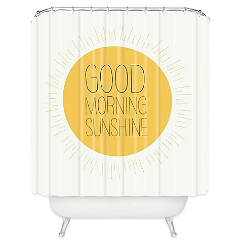 Deny Designs Allyson Johnson Morning Sunshine Shower Curtain In