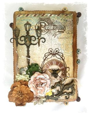 Altered cigar box DT Project by Rae Moses using the September 2013 kit collection, Gilted Pleasure, created by Swirlydoos Kit Club.  Today, 9/5, we are having a blog hop with fabulous prizes! swirlydoos.blogspot.com Join us!