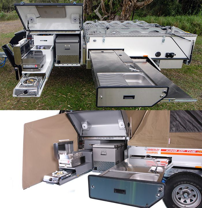 Best Offroad Camper Trailer Kitchen Trailers Diy Camper Trailer