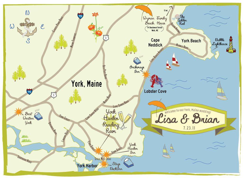 Wedding Map Custom Wedding Map Wedding Map Invitation Wedding Map