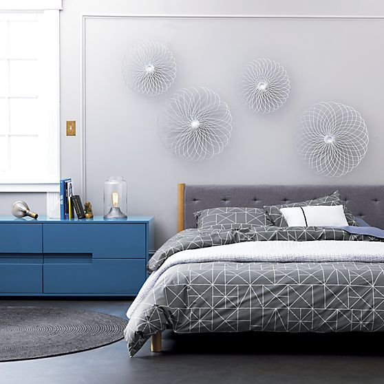 Best Latitude Slate Blue Grey Low Dresser Cb2 Bedroom 400 x 300