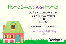 Personalised Change of Address / New Home / Moving House Cards & Envelopes 1-50
