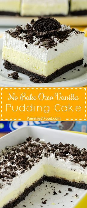 No Bake Oreo Vanilla Pudding Cake images