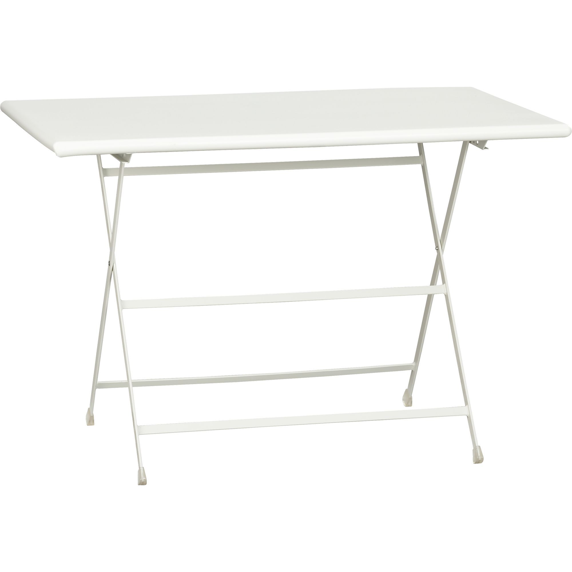 Pronto White Folding Bistro Table in Outdoor Dining
