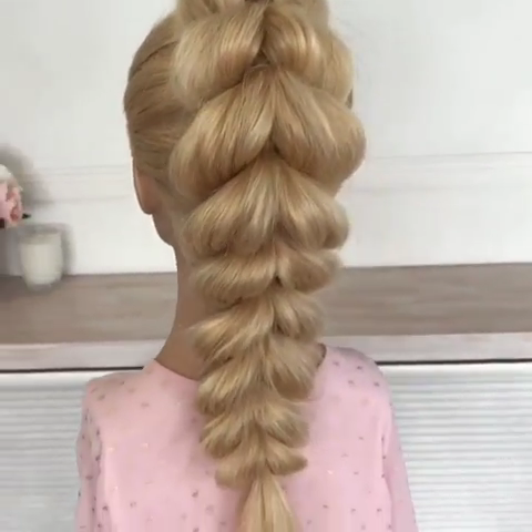 Pull Through Braid Tutorial Video Long Hair Styles Hair Styles Hair Hacks