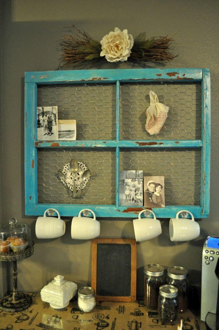 Wohnideen Zum Selber Machen Alter Fensterrahmen Wiederverwenden Vintage