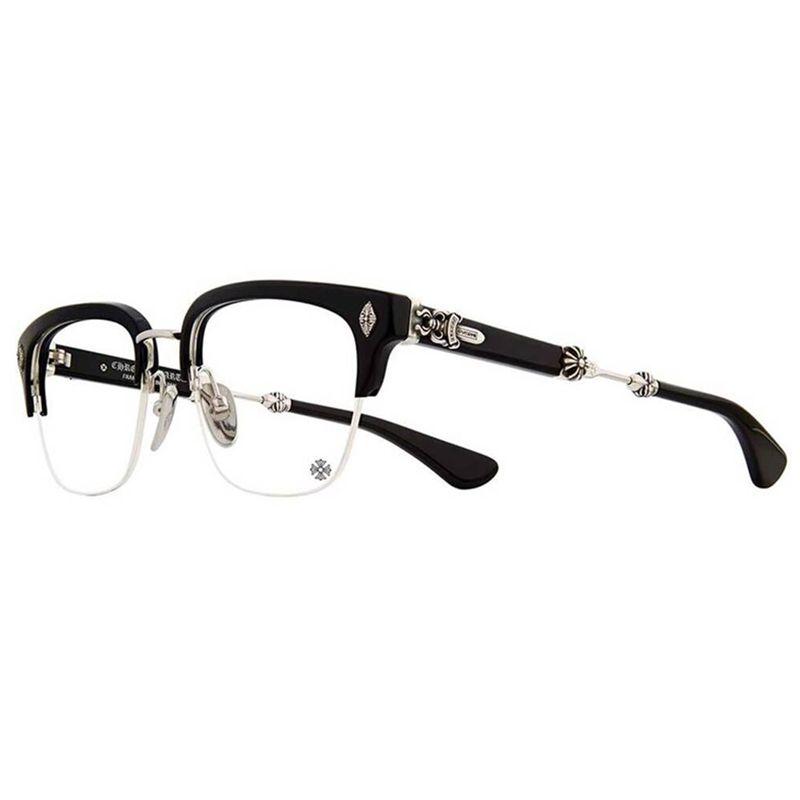 25afc40cc0ea CHROME HEARTS Glasses EVAGILIST D T Silver plated 53-19-146 Matte Black  Frame Eyeglasses HAND-MADE
