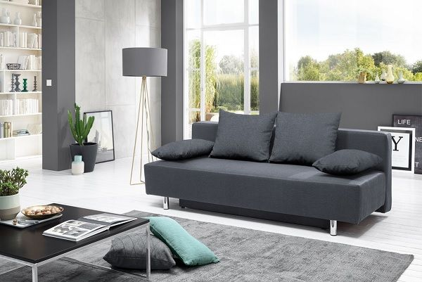 Schlafsofa MILOW Stoffbezug Grau #Sofa #wohnen #Wohnzimmer #Wohnzimmerideen