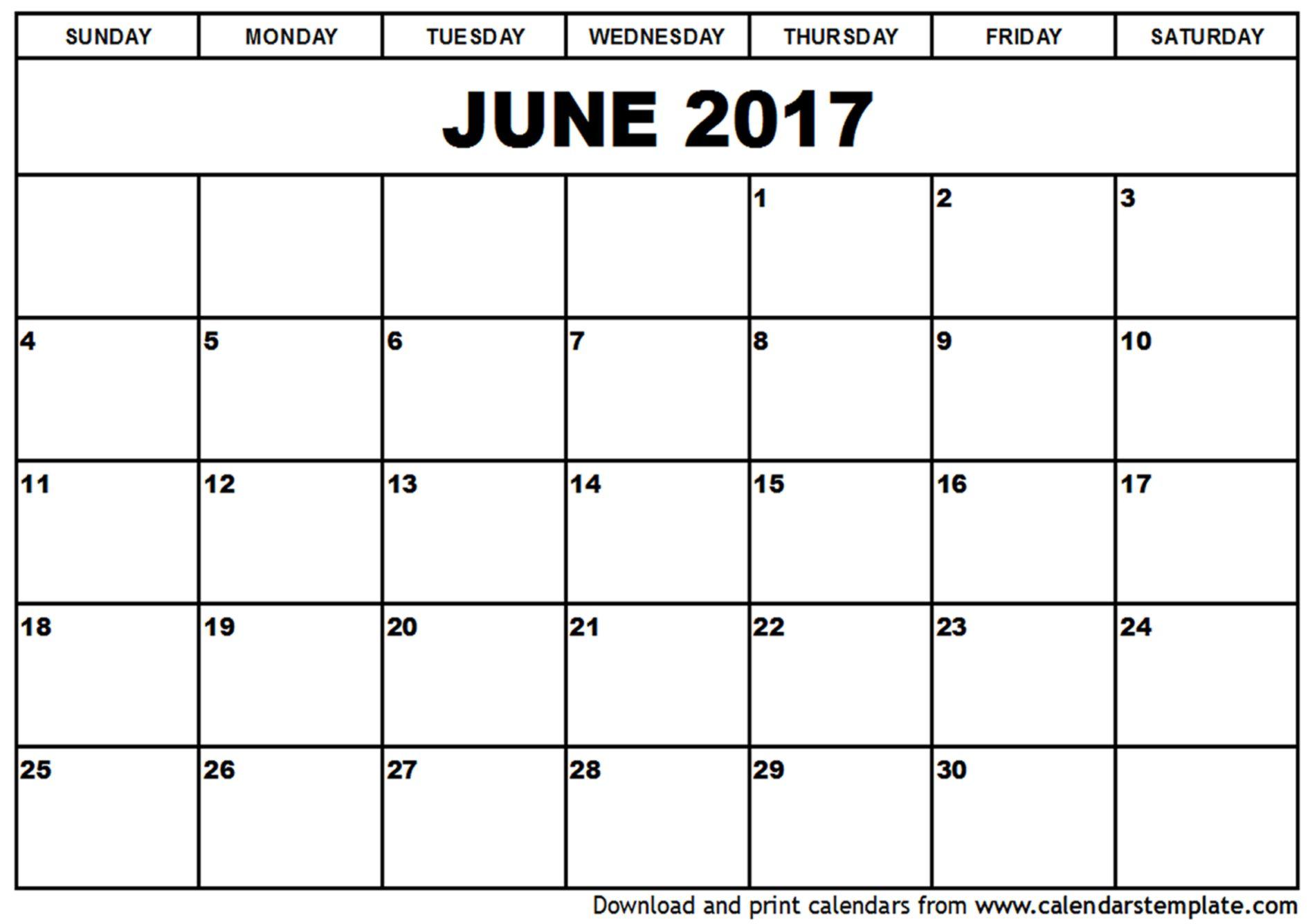 June Calendar Cute