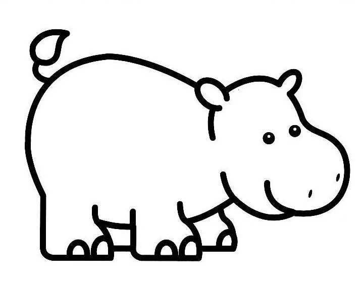Hippopotame dessin recherche google dessin enfant - Savane dessin ...