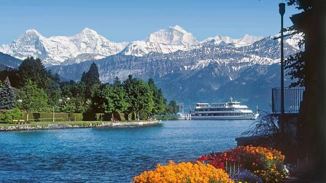 Lake Thun, Spiez, Switzerland.