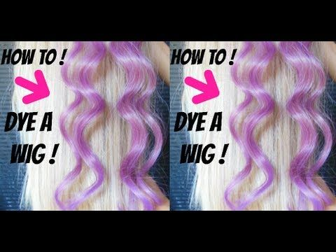 How To Dye A Synthetic Wig Easy Affordable Simple Wigs Synthetic Wigs Kanekalon Hairstyles