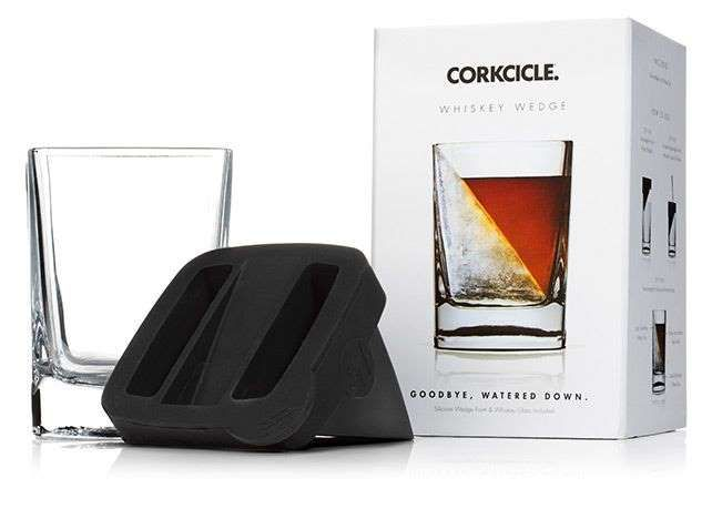 Make anyone look like an expert mixologist with this ice-tray-and-glass set. Corkcicle Whiskey Wedge... - Refinery29