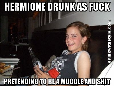 Funny Memes For Gf : Emma watson hermione funny drunk meme quotes pinterest funny