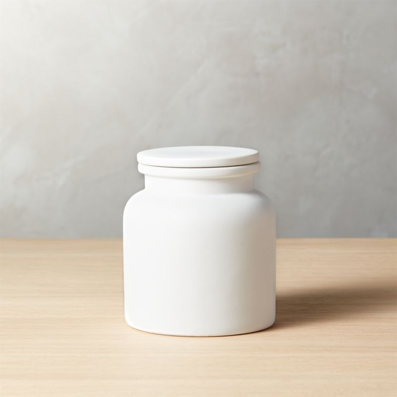 Prep Small White Canister Reviews White Canisters Kitchen
