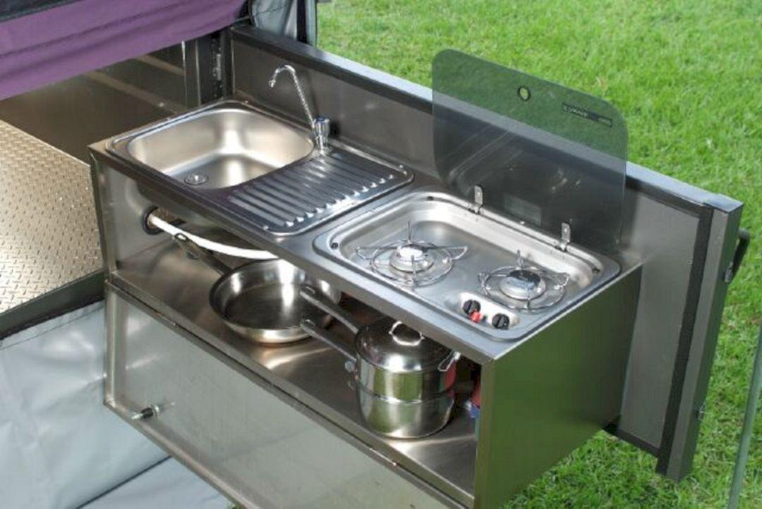 23 Awesome Rv Kitchen Sink Design Ideas For Preparing Your Vacation Camper Van Kitchen Camper Kitchen Outdoor Camping Kitchen