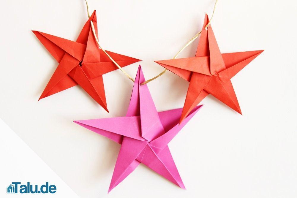 Origami Stern Falten – Stern Aus Papier Basteln