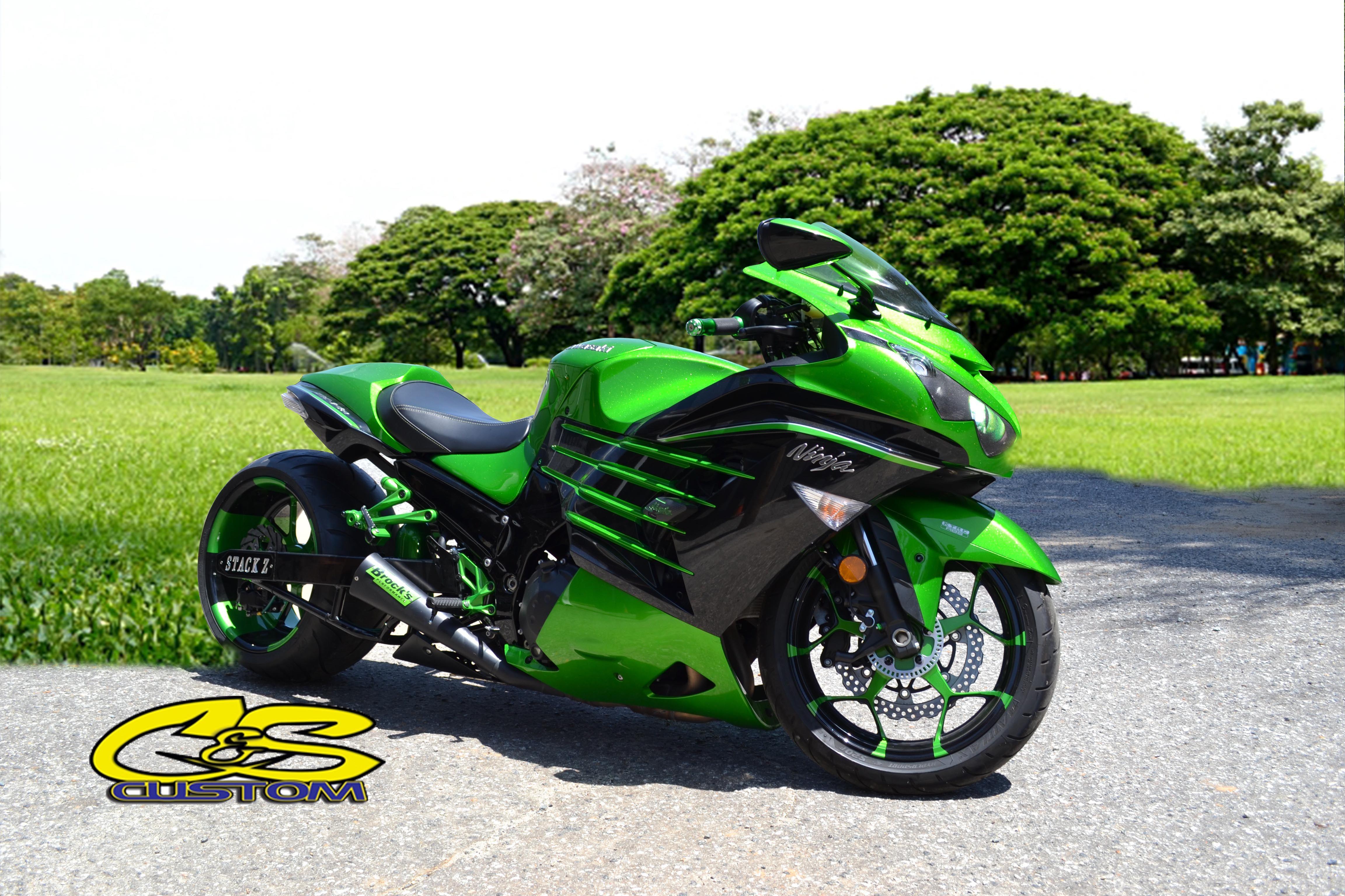 GCC Sportbike Motorcycle Motorbike Green zx14
